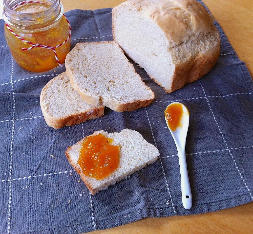 mermelada de albaricoque, melocotón y piel de naranja