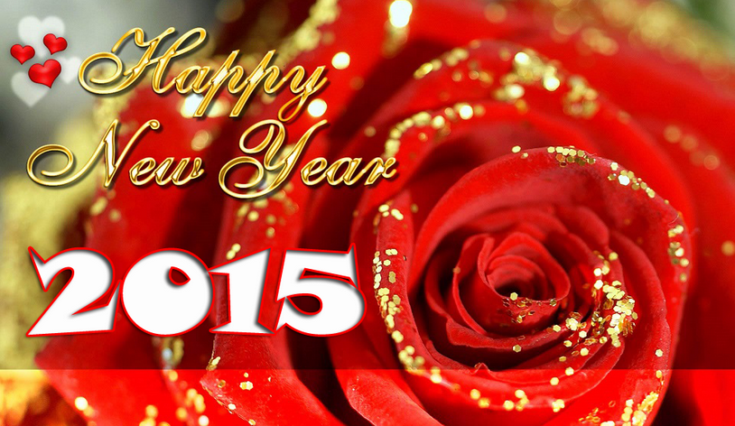Happy New Year 2015 Rose HD Cards