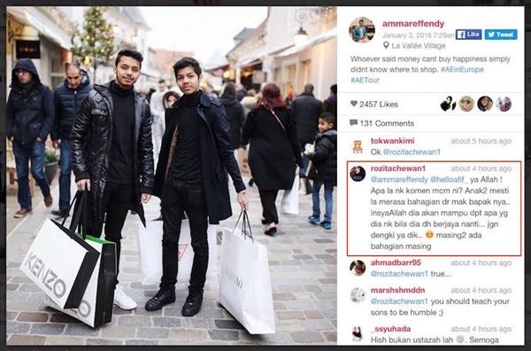 Perghhh Bikin Sentap!! Che Ta Tampil Beri Komen Panas Buat Pengkritik Anaknya Di Laman Sosial