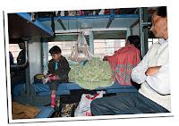 interior de un tren indio