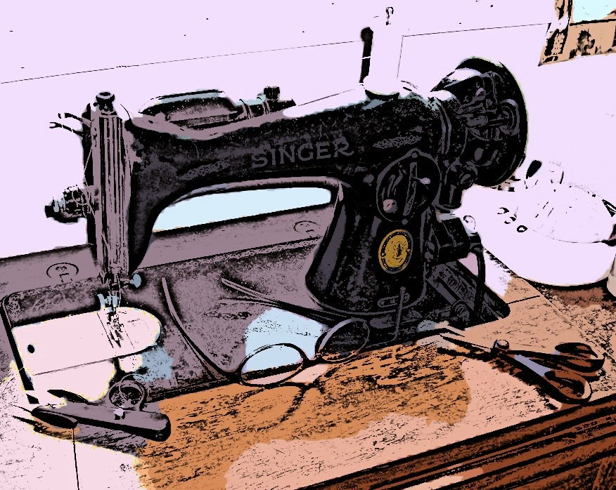 My favorite sewing machine, Old Faithful, Ernestine