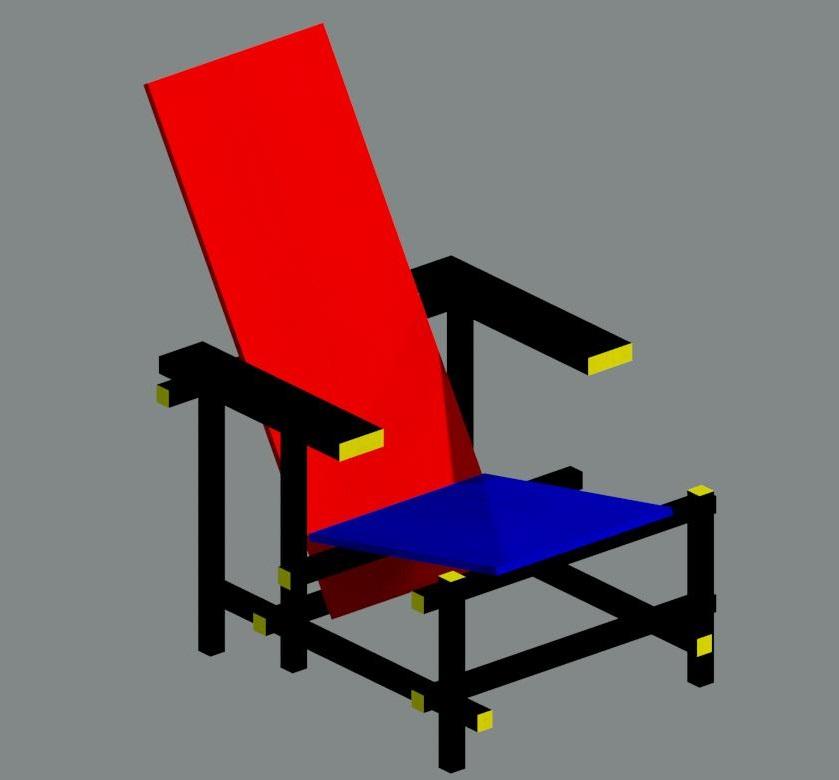 Manual de revit familia de revit silla roja y azul de for Silla roja y azul