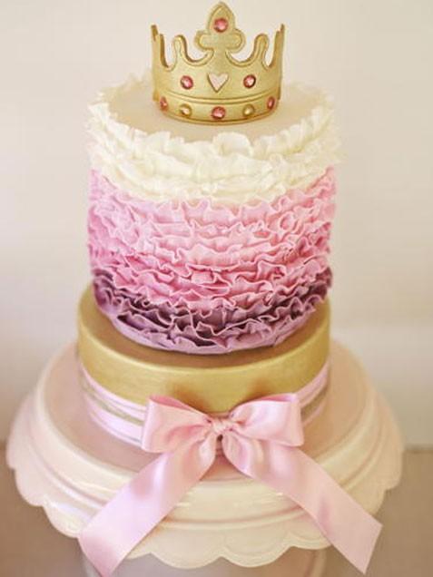 Vintage Tiara Cake Topper