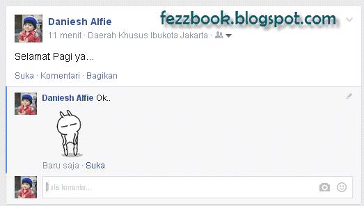membuat komentar facebook dengan gambar bergerak gerak