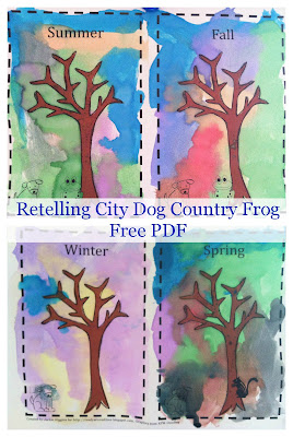 Book Activity, reading, early literacy, reader, retelling a story, City dog Country Frog