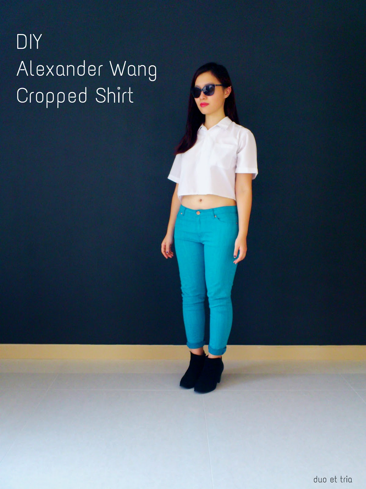 DIY Alexander Wang Cropped Shirt