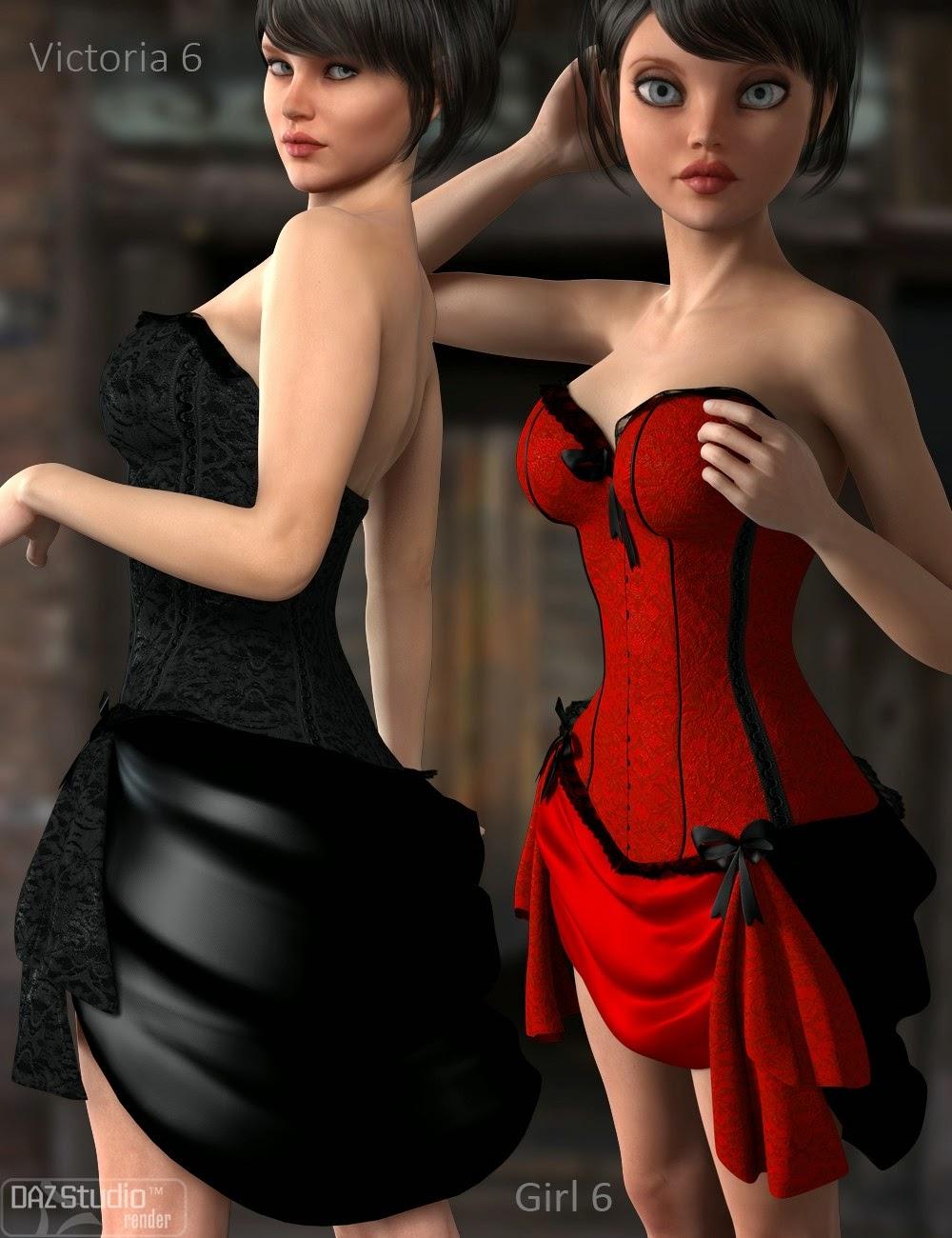 Bustier Dress for Genesis 2 Female