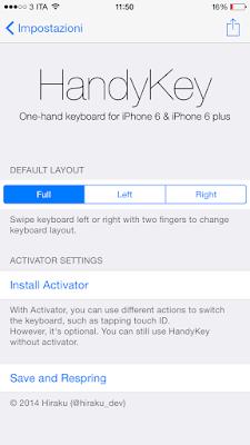HandyKey Cydia App