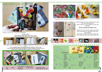 Natali Topliff - Magazine for Art and Craft Hobbyists, Pages 1 and 2