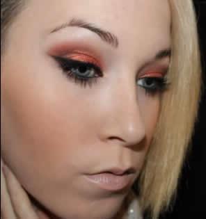 maquillaje tonos naranjas