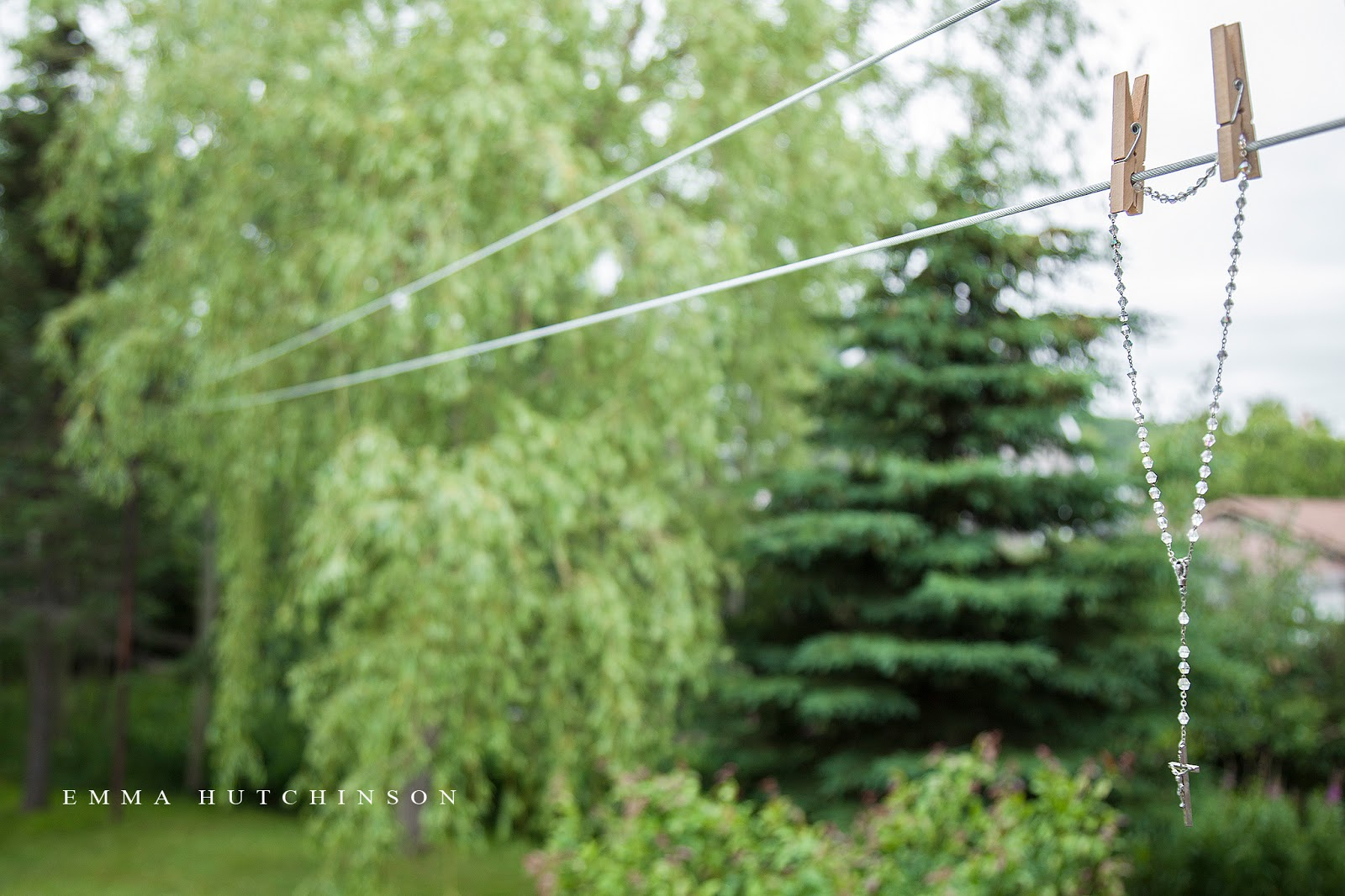 Want perfect weather for your wedding day? Hang prayer beads on the cloths line.