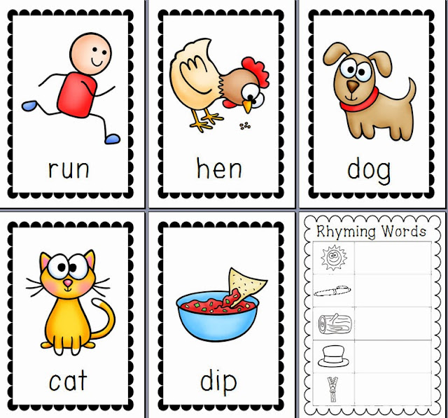 Cat In The Hat Rhyming Word Cards Printable