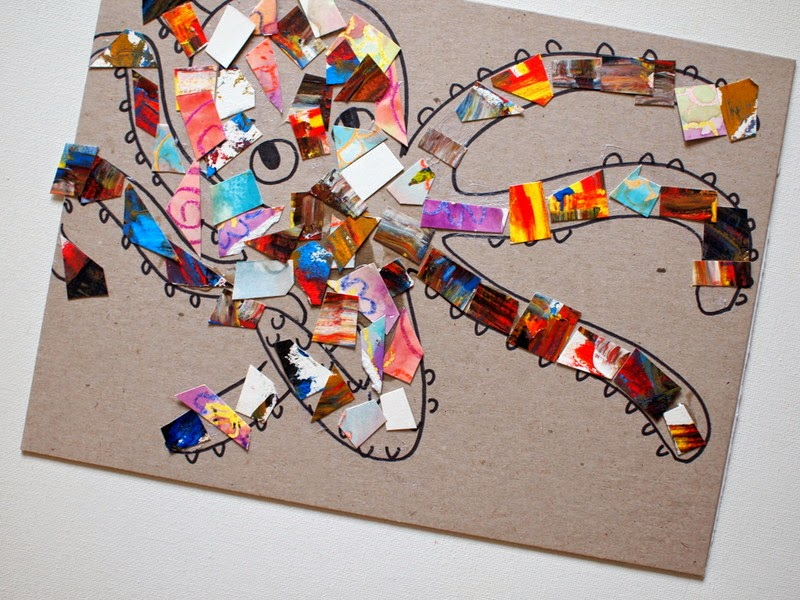 create a mosaic with your abstract art