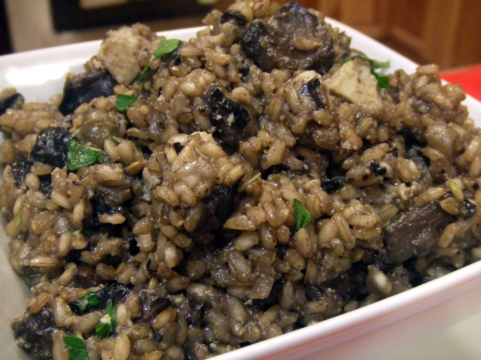 Veganmofo: Gordon Ramsay And Brown Rice Risotto With Portobello Mushrooms  And Soy Blue Cheese