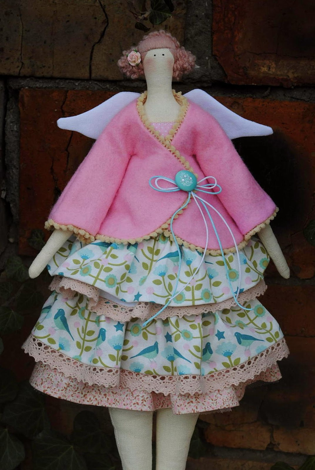 kids, baby, gift, sewing, girl, buy, handmade, natural, fairy, fairies, beautiful, doll, cotton, house, ivy, wings, tilda