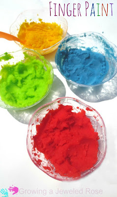 Easy to make finger paint that is safe for even the tiniest tots