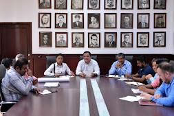 Revisan Américo Zúñiga y colonos avance de obras