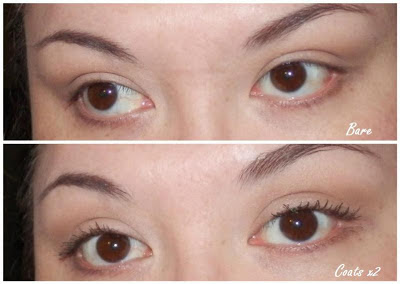 Revlon Lash Potion before and after