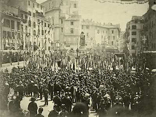 Inauguración del monumento a Giordano Bruno en Campo dei Fiori (Roma) - Ettore Ferrari, 1889