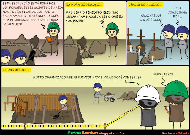 Dexter peque que os funcionários deixem a escavação dentro dos conformes