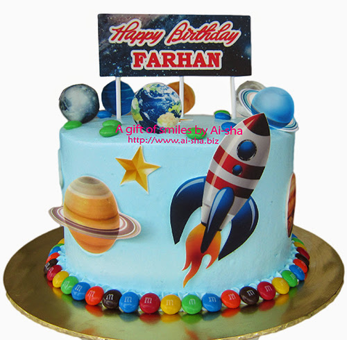 Rocket/Space Themed Cake