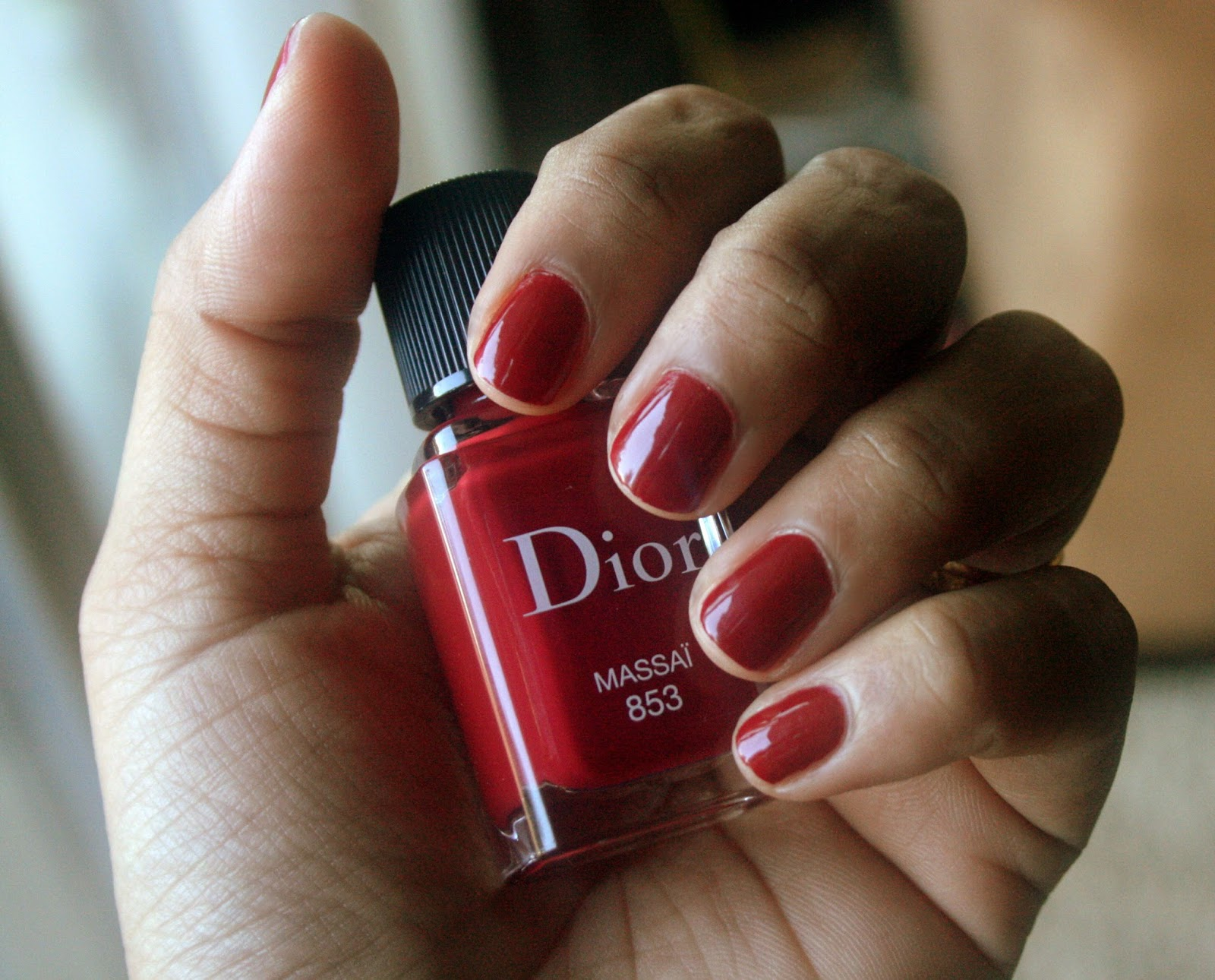 Dior Vernis Massai 853 Swatch NOTD Nail Polish Application
