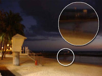 Real Ghost Photo: Beach Ghost walking on the stairs