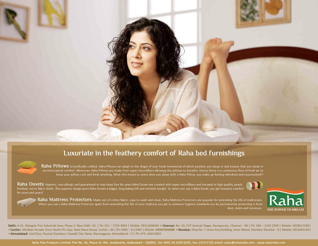 Nidhi: RAHA Mattress Ads