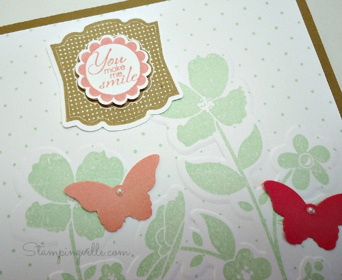 Pair up stamps and punches to create a cute greeting label