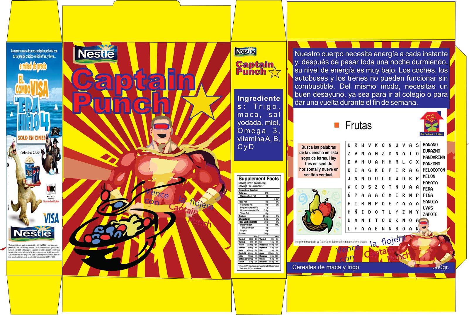Dorable Caja De Cereal Plantilla Photoshop Composición - Colección ...