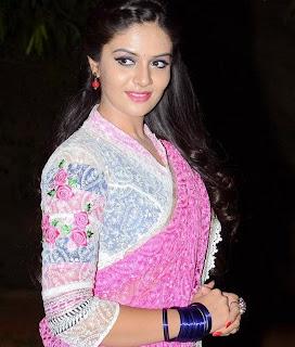 Sreemukhi Stills at Andhra Pori Movie Audio Launch
