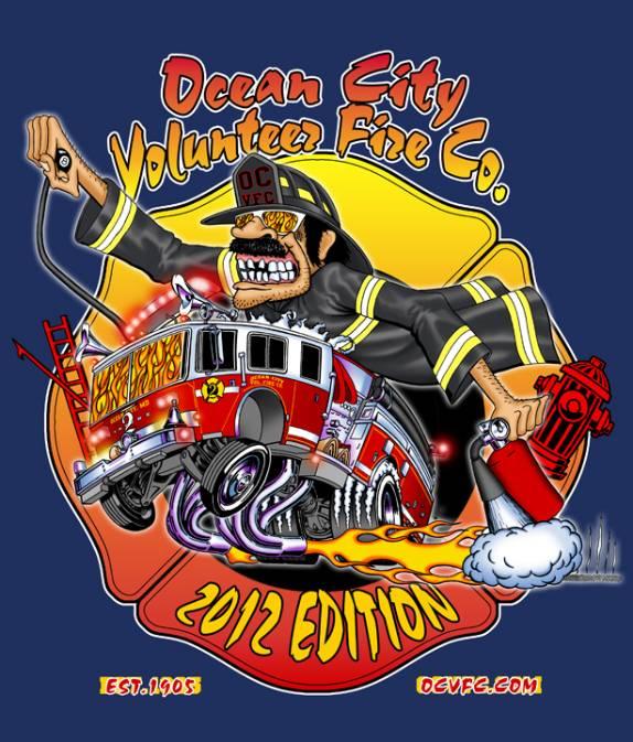 Ocean city fire department ocfd volunteer division 2012 for Fire department tee shirt designs