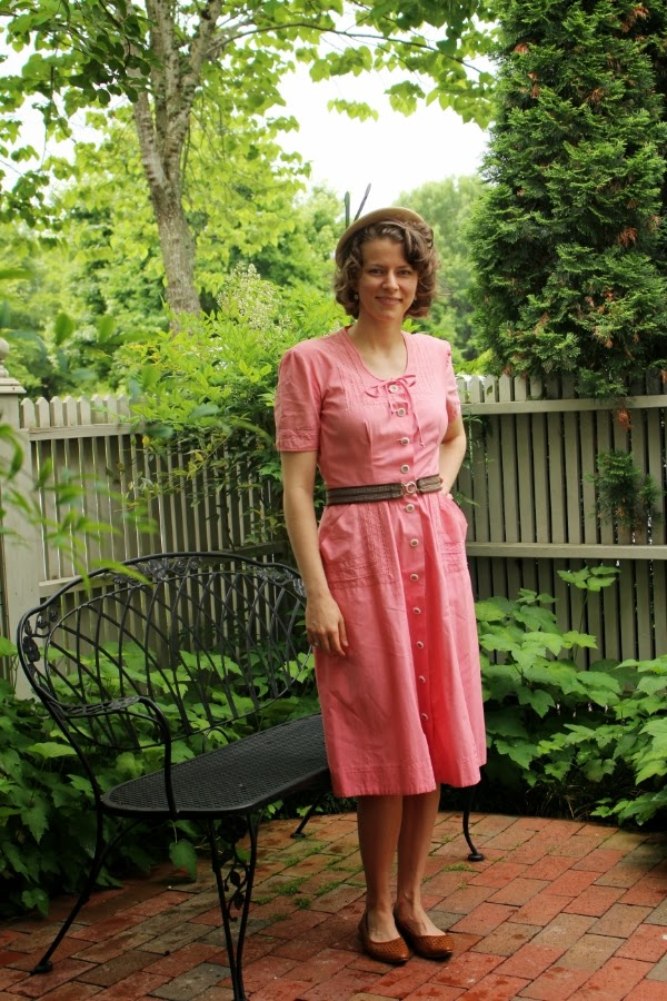 1940s Daytime Outfit on ChatterBlossom #1940s #vintage #dress #outfit