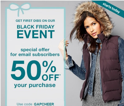 Gap Black Friday Event First Dibs 50% Off Promo Code