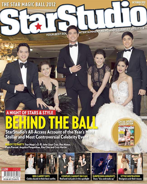 John Lloyd Cruz, Bea Alonzo, Piolo Pascual, Angelica Panganiban, Kim Chiu and Coco Martin Cover StarStudio Magazine October 2012 issue