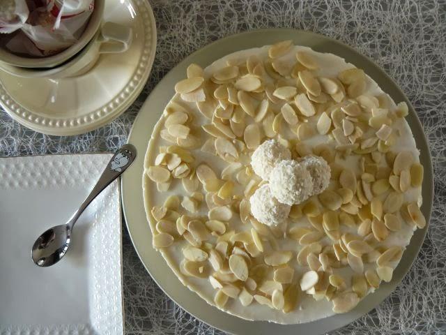 Rafaello - kokosowy sernik na zimno
