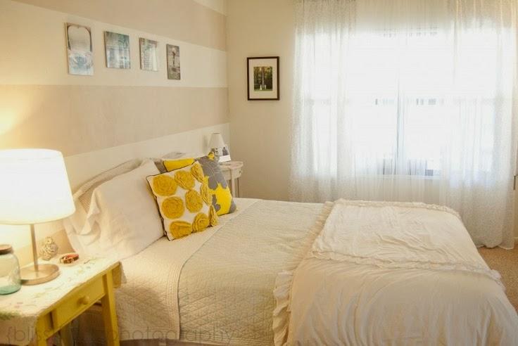Camere A Righe : Architettarte: idee per le pareti della camera da letto