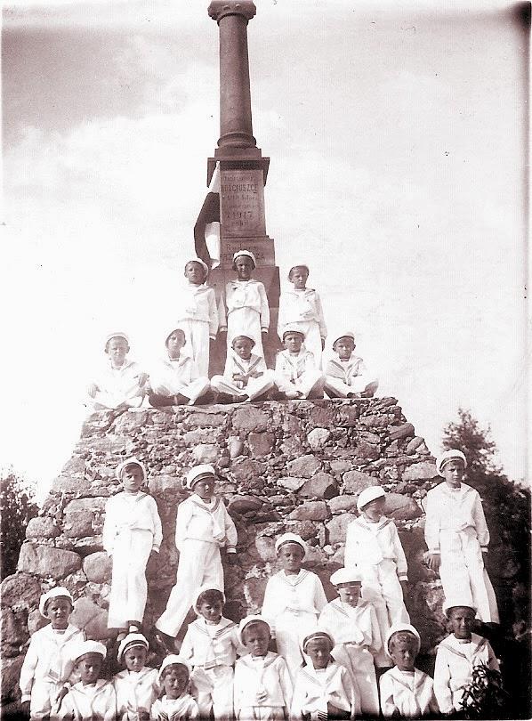 Pomnik Kościuszki w Przedborzu. Stan przed 1927 r. Fot. ze zbiorów autora.