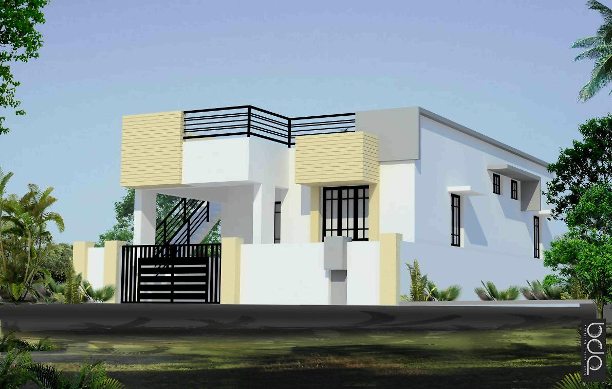 Individual house compound wall designs House design