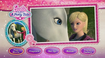 Barbie & Her Sisters in a pony Tale DVD, Barbie movie, Pony movie