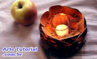 Como fazer um candelabro (suporte) de vela simples com pinhas – Passo a Passo