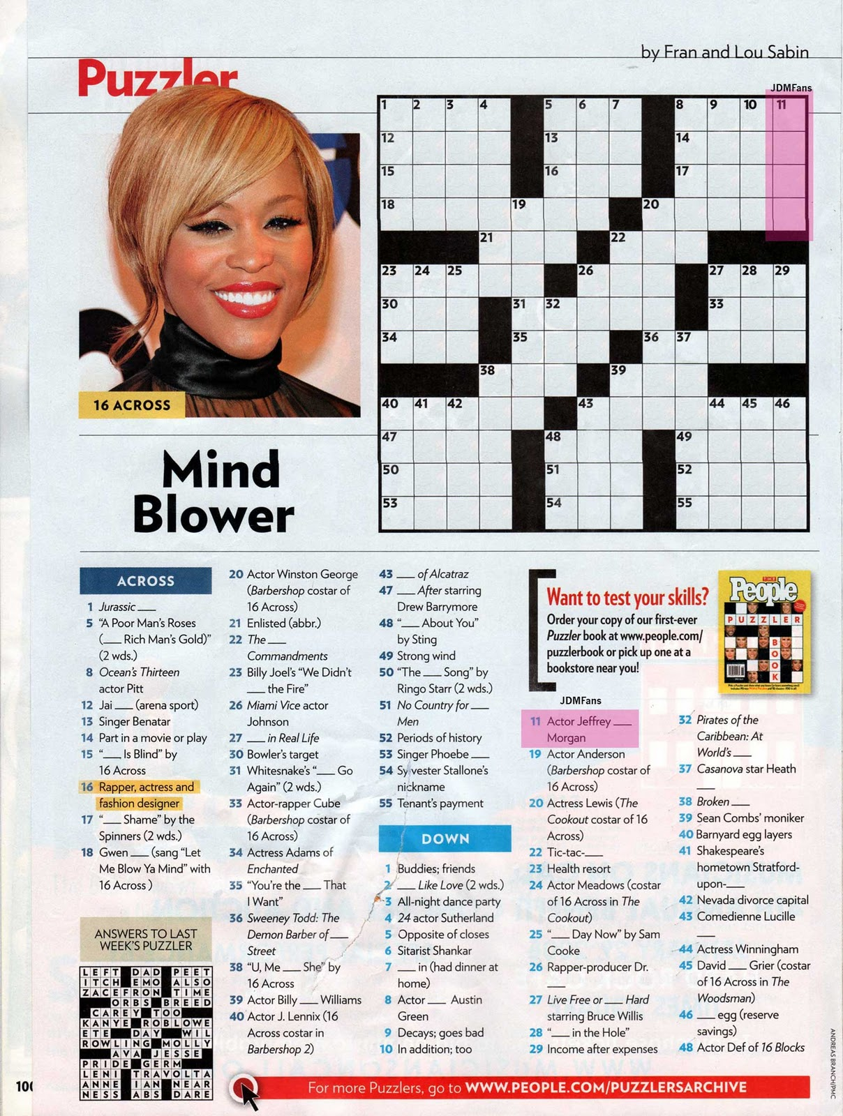 Intrepid image with regard to people magazine crossword printable