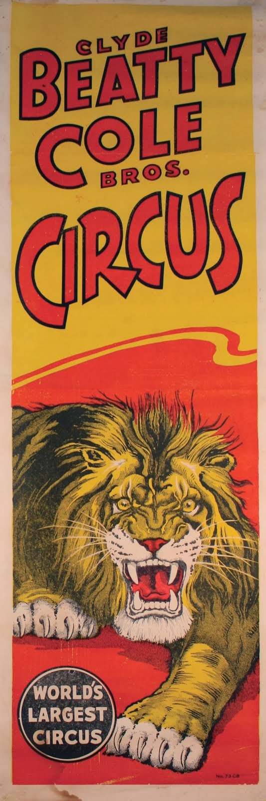 """Roaring Lion Circus Poster"""