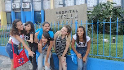 Adolescência e Juventude Missionária de Guarulhos visita Hospital Stella Maris