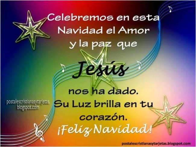 imagenes cristianas tarjetas de navidad feliz jesus en corazón, facebook