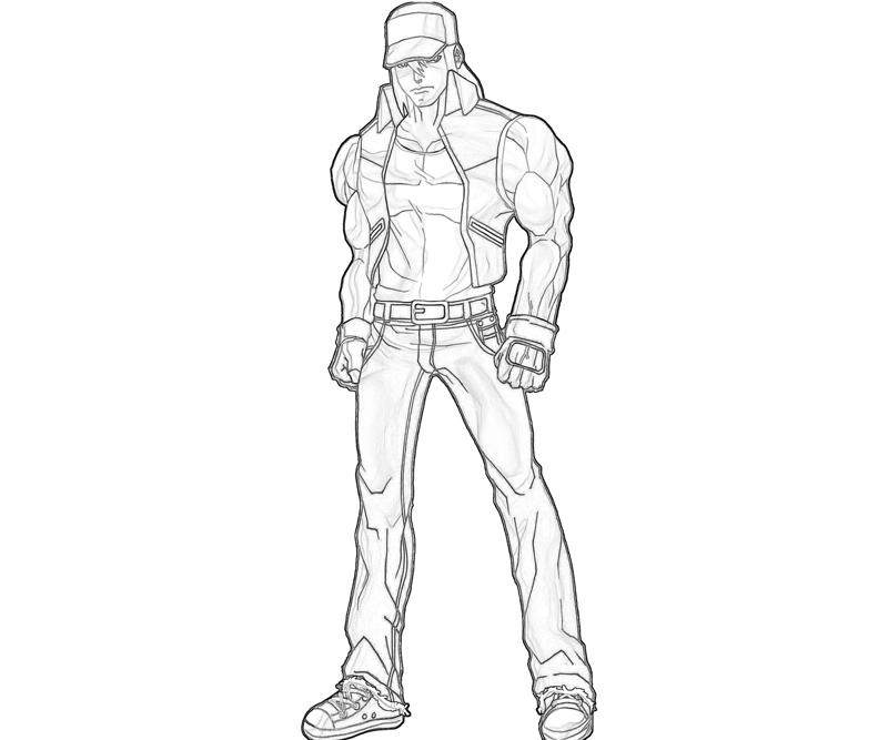 printable-king-of-fighters-terry-bogard-strength_coloring-pages