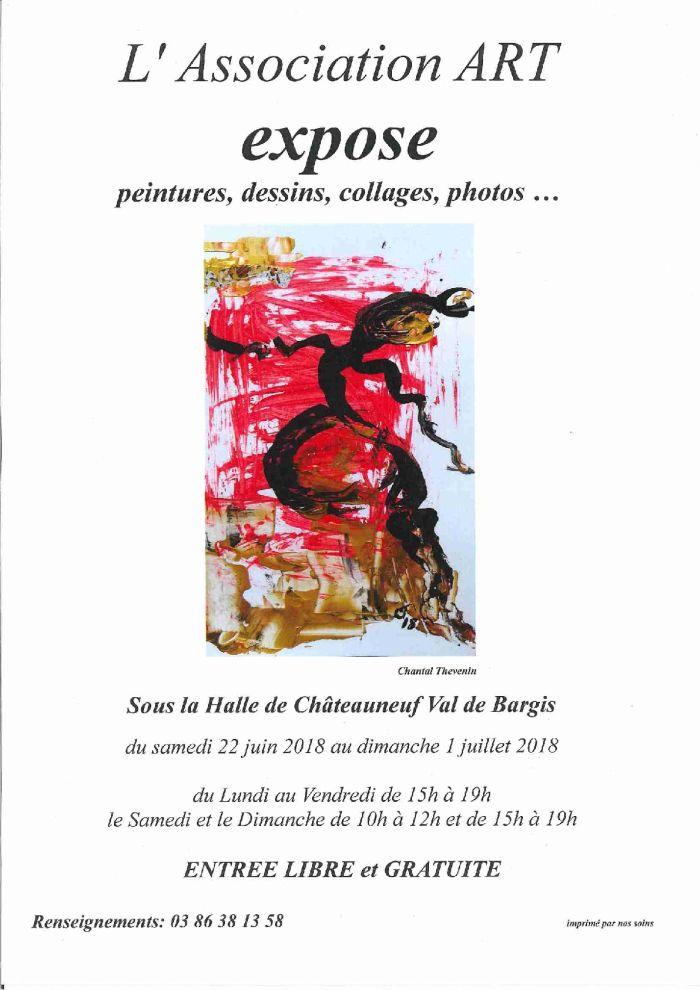 L'association ART expose du samedi 22 juin au dimanche 1er juillet