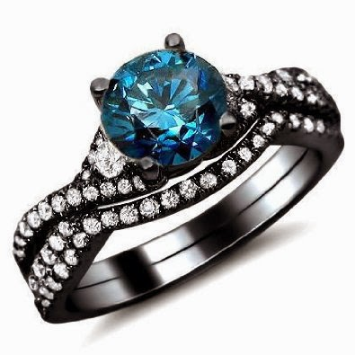 women 39 s jewelry news blue diamond engagement ring bridal. Black Bedroom Furniture Sets. Home Design Ideas