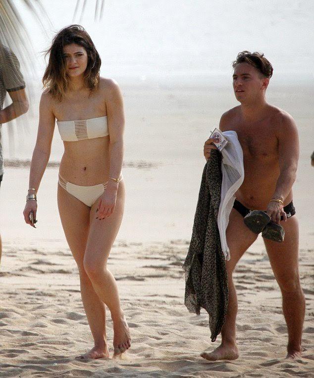 Kylie Jenner stroll in a White Bikini in Thailand