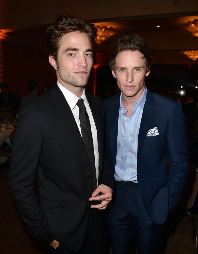 Photo of Eddie Redmayne & his friend actor  Robert Pattinson - England